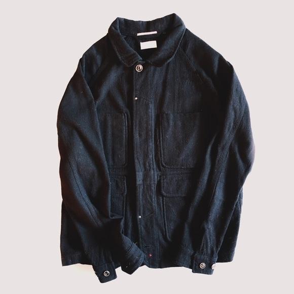 23a4422cded07 apolis Jackets & Coats   Black Indigo Wool Chore Jacket   Poshmark